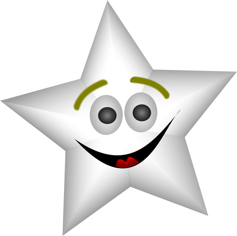 Free Smiling Star with Transparency