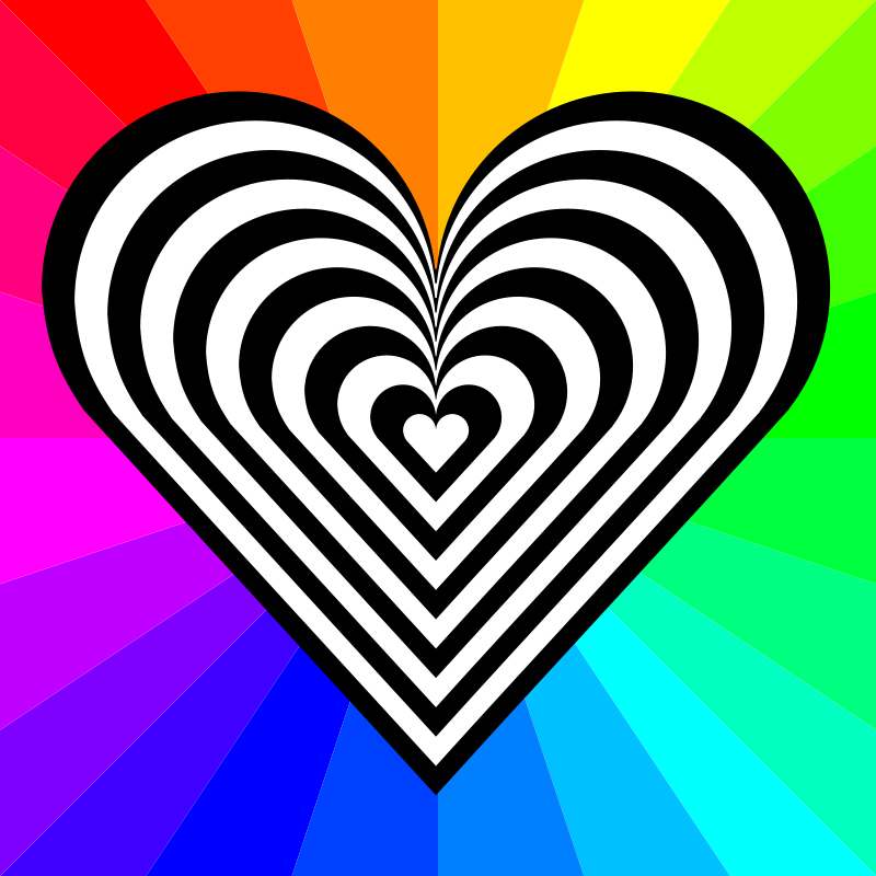 Free zebra heart 12 stripes