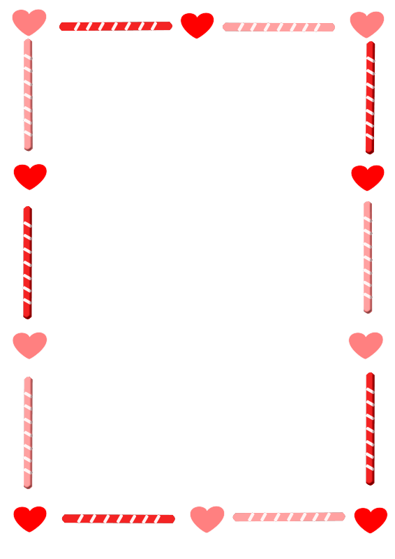 Free Heart and Candy Border