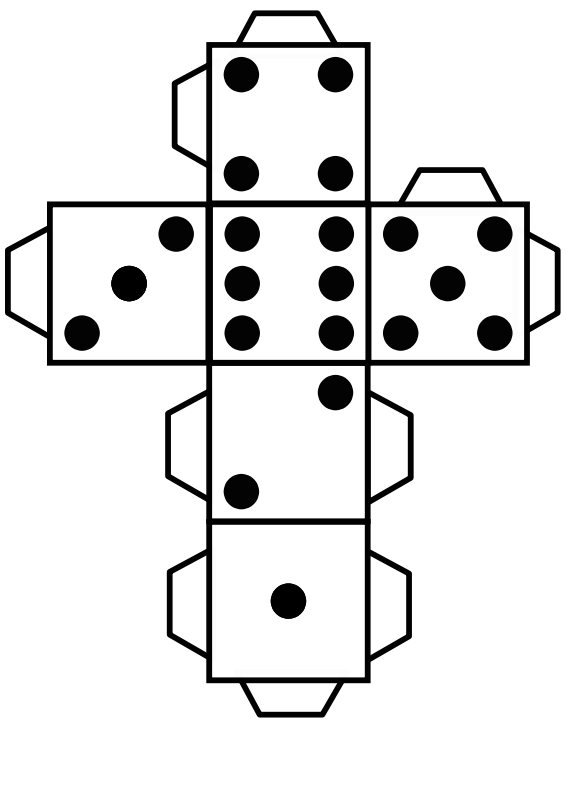 Free Printable die dice