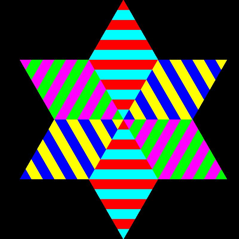 Free hexagram triangle stripes