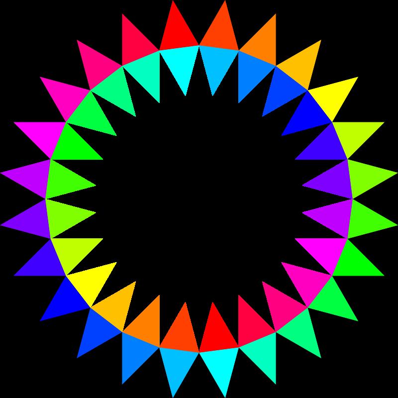 Free rainbow 24gon