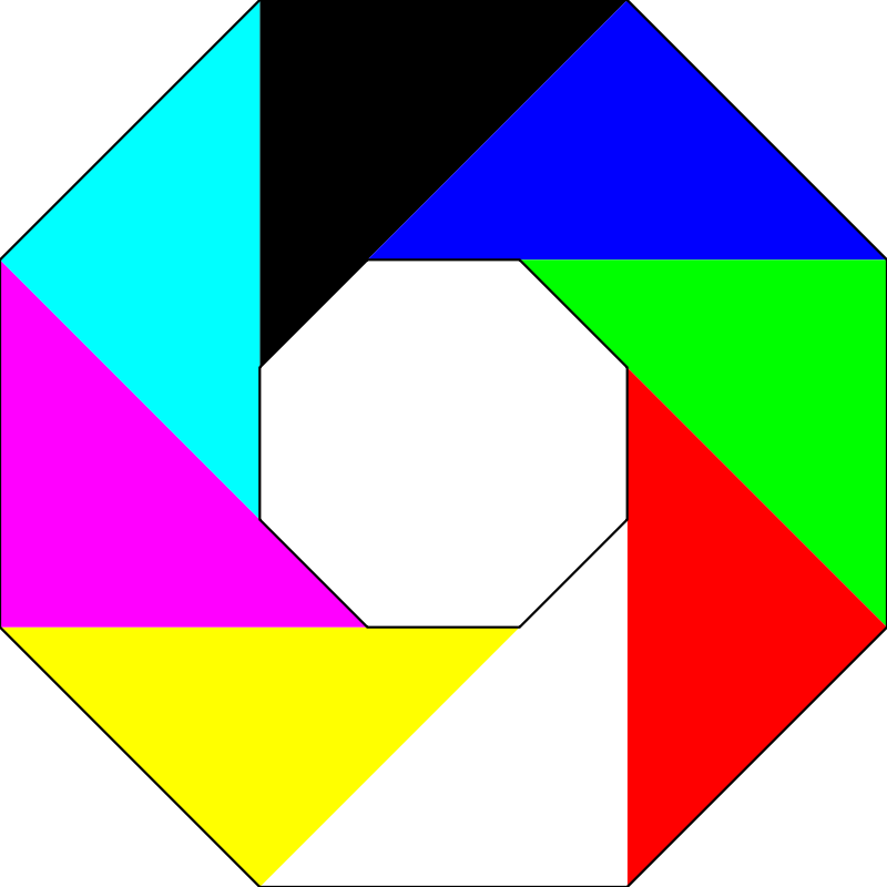 Free colorful octagon