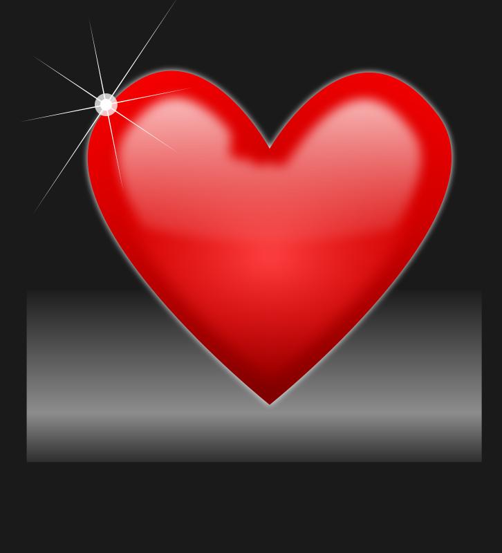 Free Shiny heart
