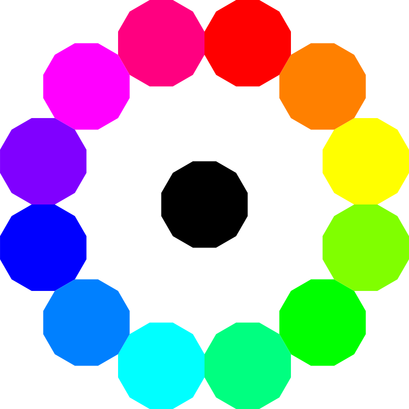 Free colorful dodecagons