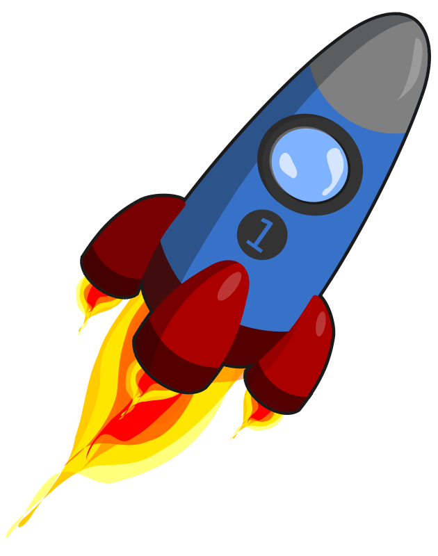 Free Rocket blue and red