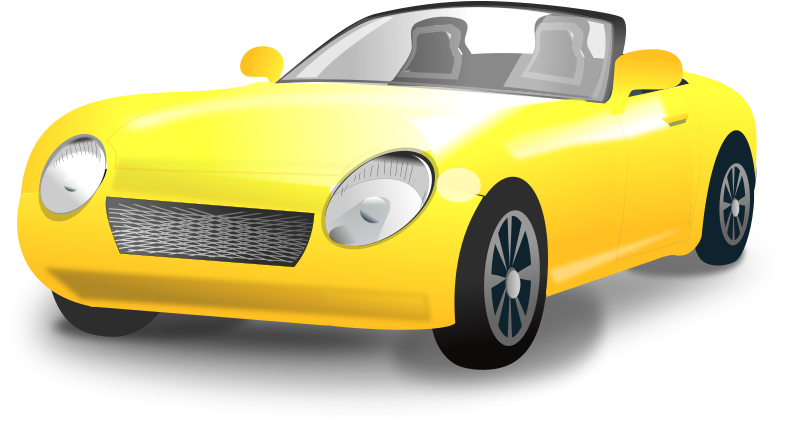 Free Yellow Convertible sports car