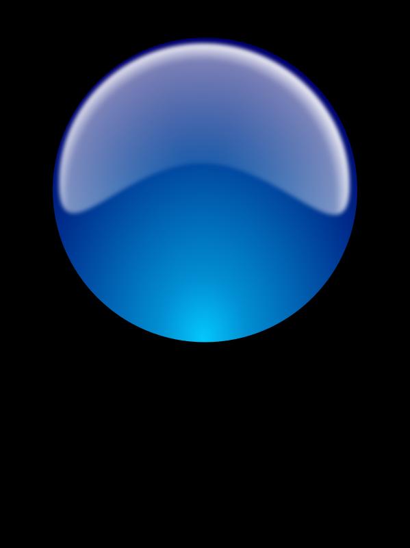 Free Glossy sphere w/reflex. Esfera brillante con reflejo.