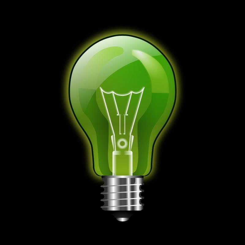 Free Green lightbulb