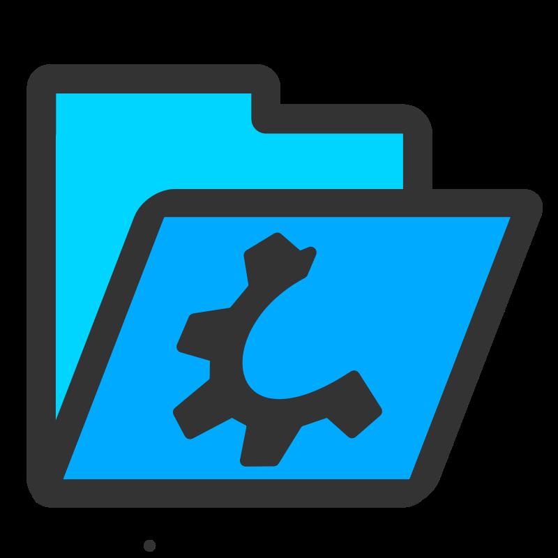 Free folder cyan open