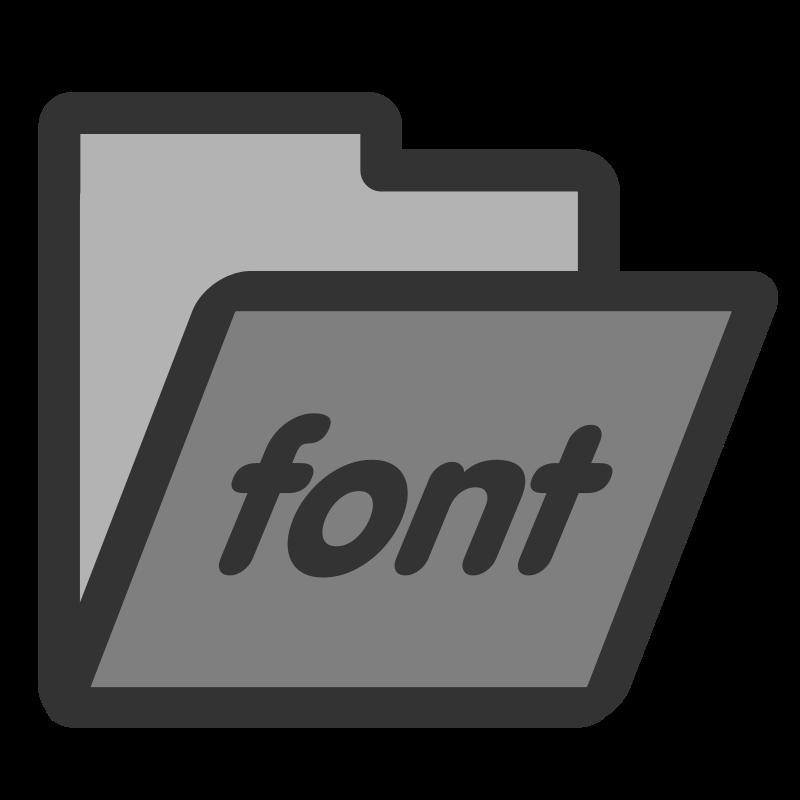Free folder fonts