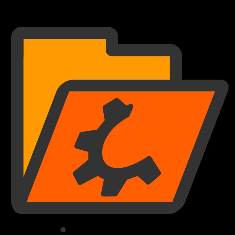 Free folder orange open