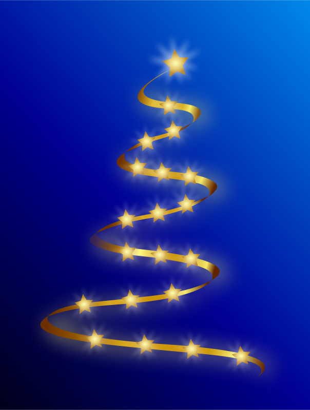 Free Clipart: Modern Christmas Tree | Merlin2525