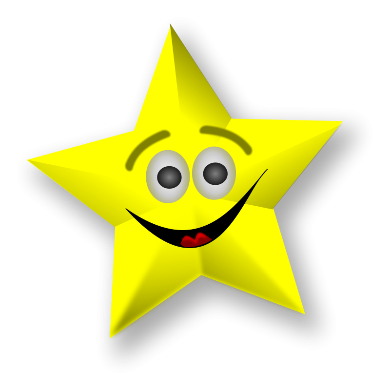 Free Clipart: Smiling Star | Merlin2525