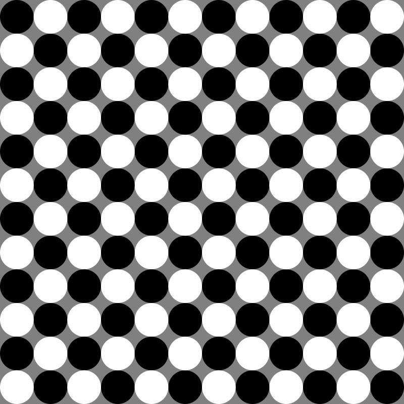 Free circles chessboard