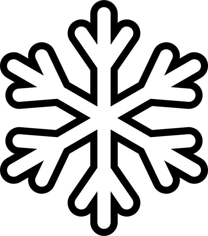 Free Snowflake - Monochrome
