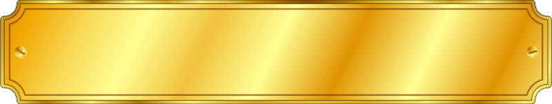 Free Gold Metal Sign (extended)