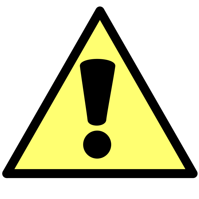 Free Clipart: Messagebox warning | Anonymous
