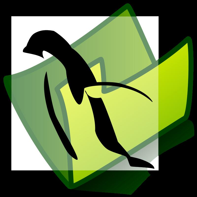 Free folder penguin