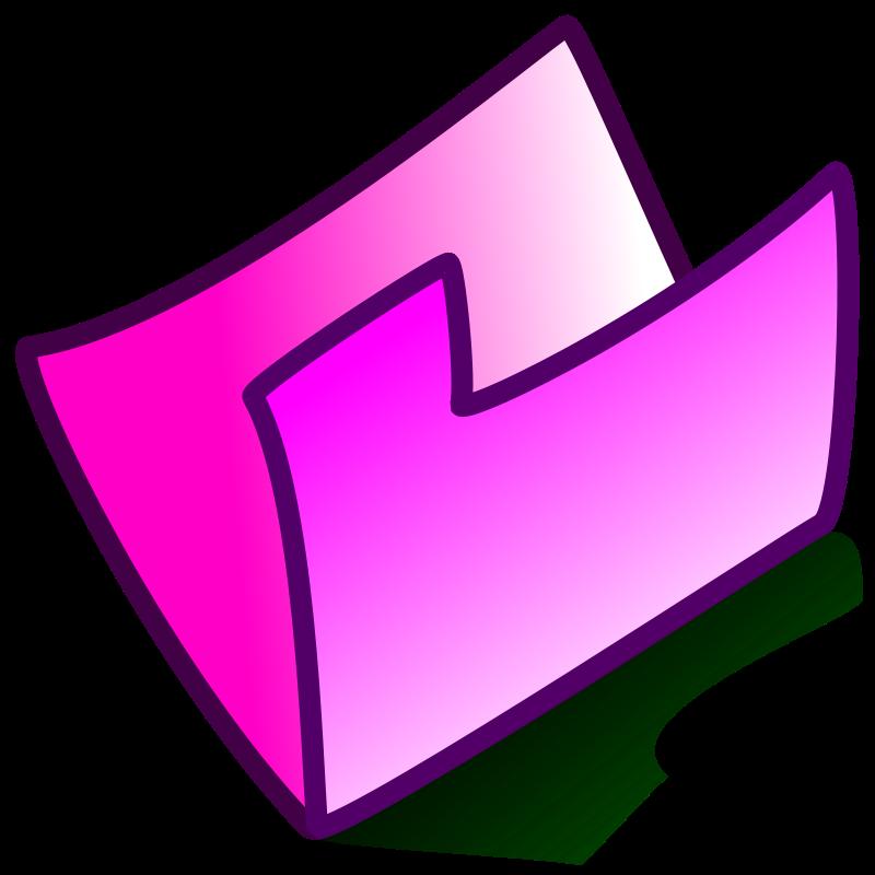 Free folder pink