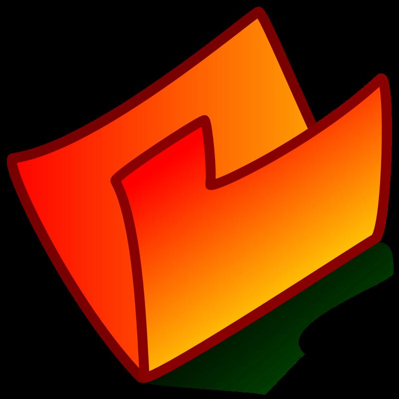 Free folder red