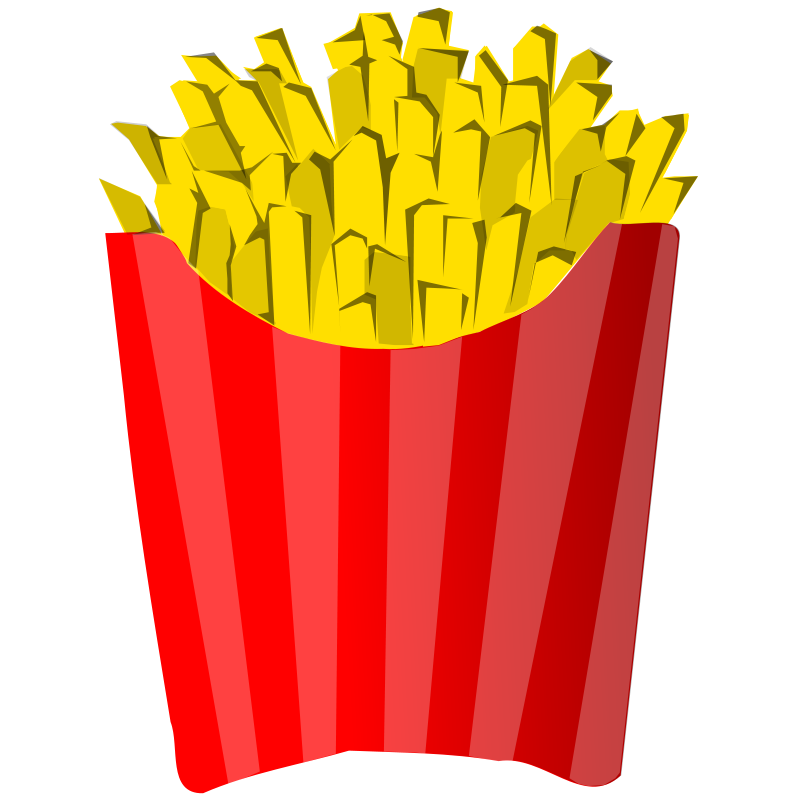 Free Clipart: French fries juliane kr r | Anonymous