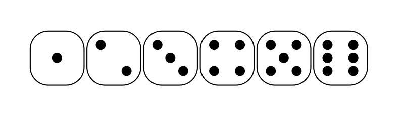 Free six-sided dice faces lio 01