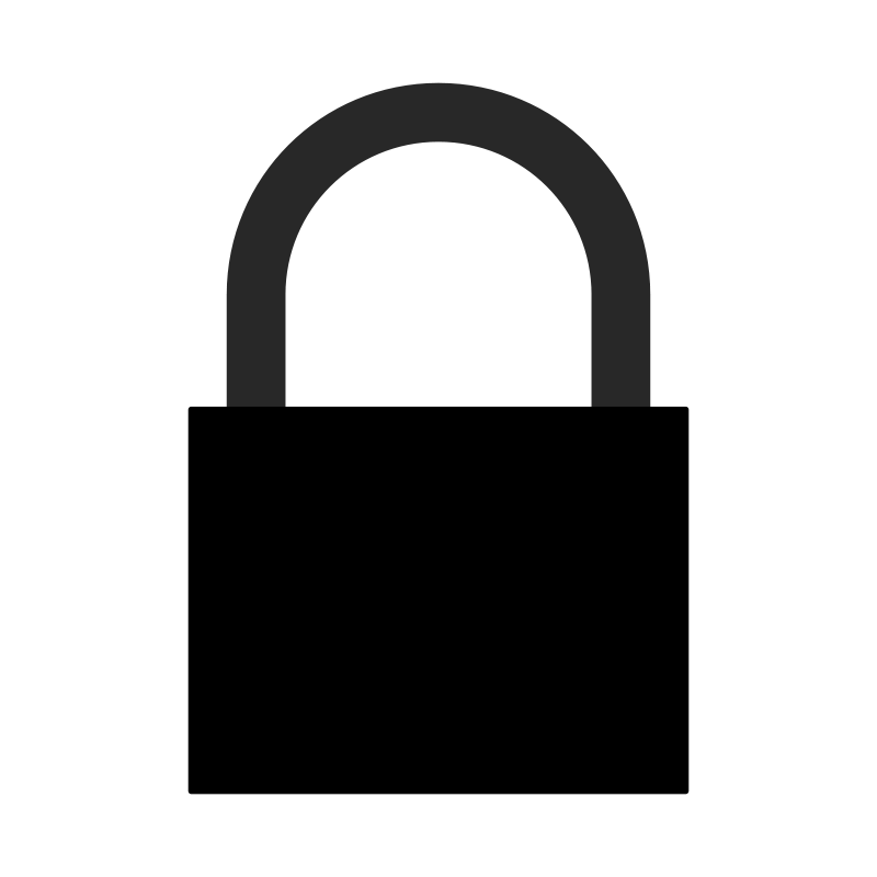 Free padlock silhouette a.j.  01