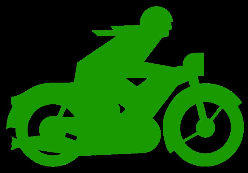 Free green motorbiker