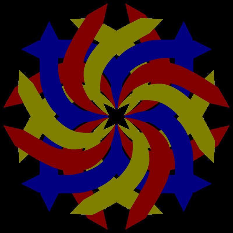 Free double swirl