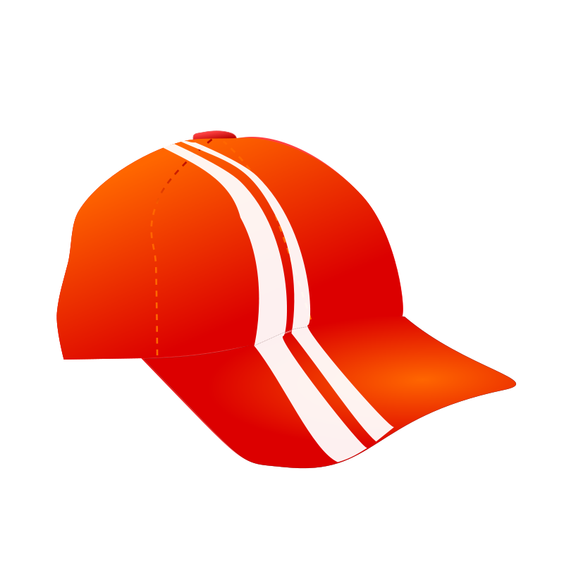 Free cap with racing stripes