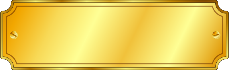 Free Gold Metal Sign