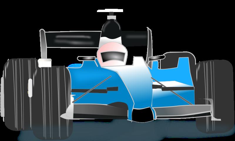 Free race car blue