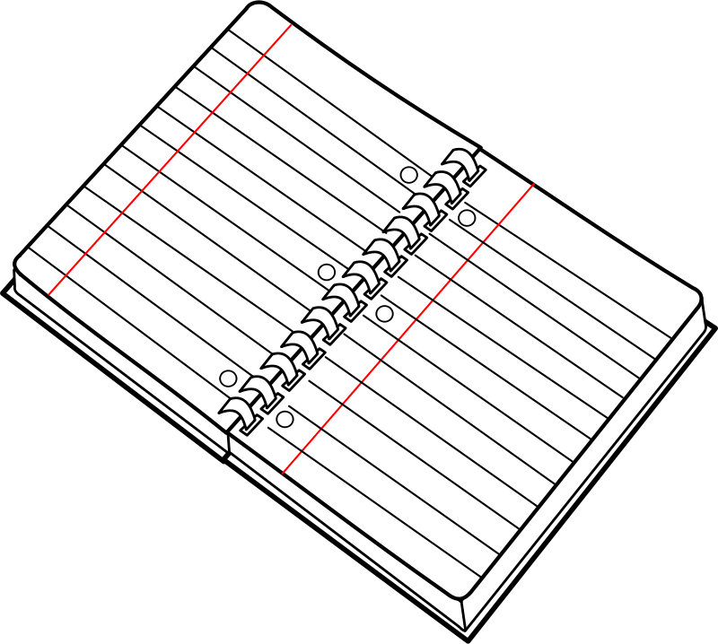 Free Clipart: Cahier spirale ouvert / open spiral notebook | lmproulx