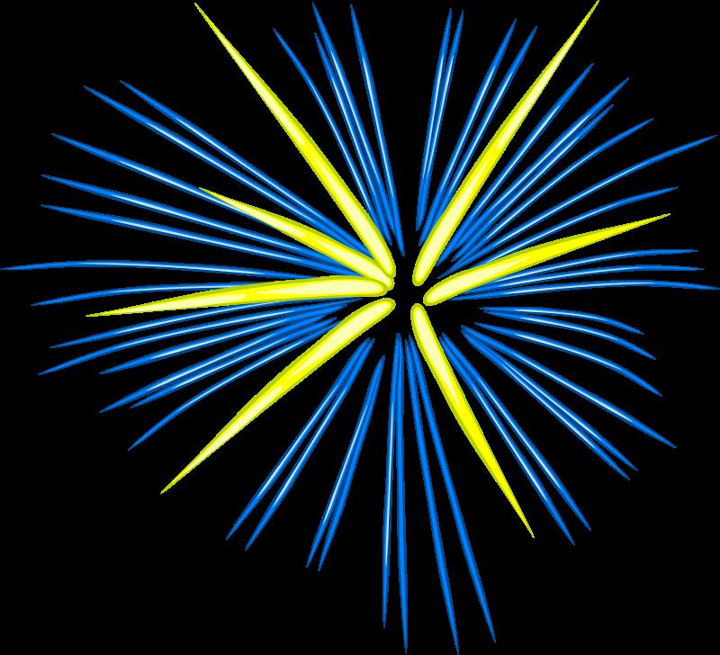 Free Blue Fireworks