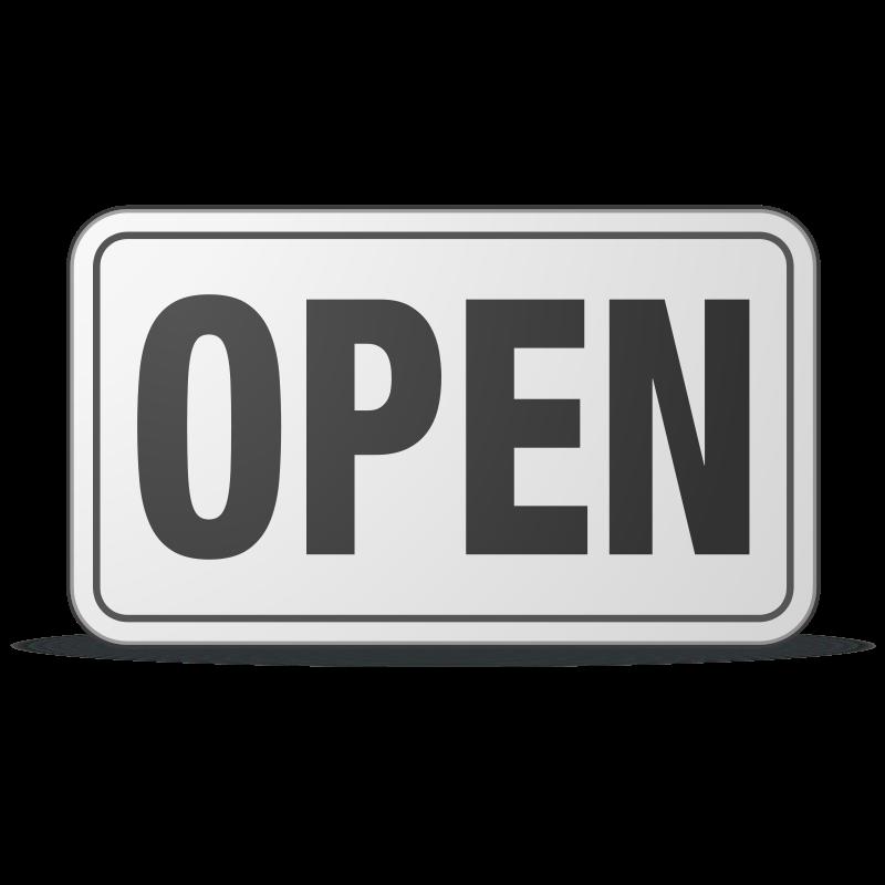 Free Open Sign plastic