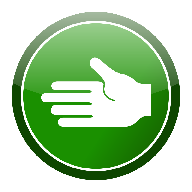 Free Green cirlce hand icon