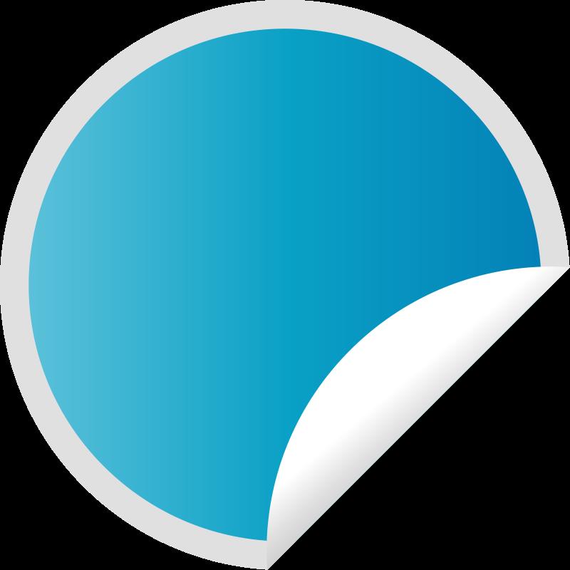 Free Peeling Blue Sticker