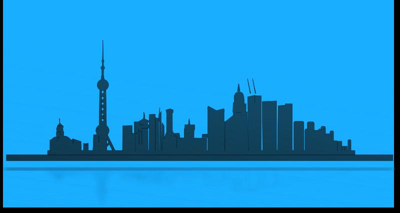 Free Shangai city skyline