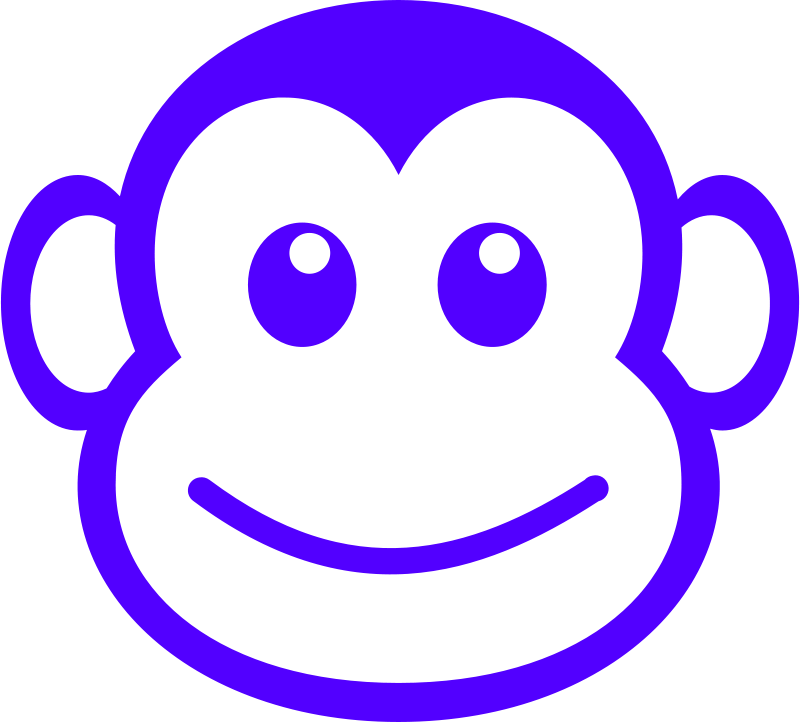 Free Clipart: Funny monkey face simple path | Martouf