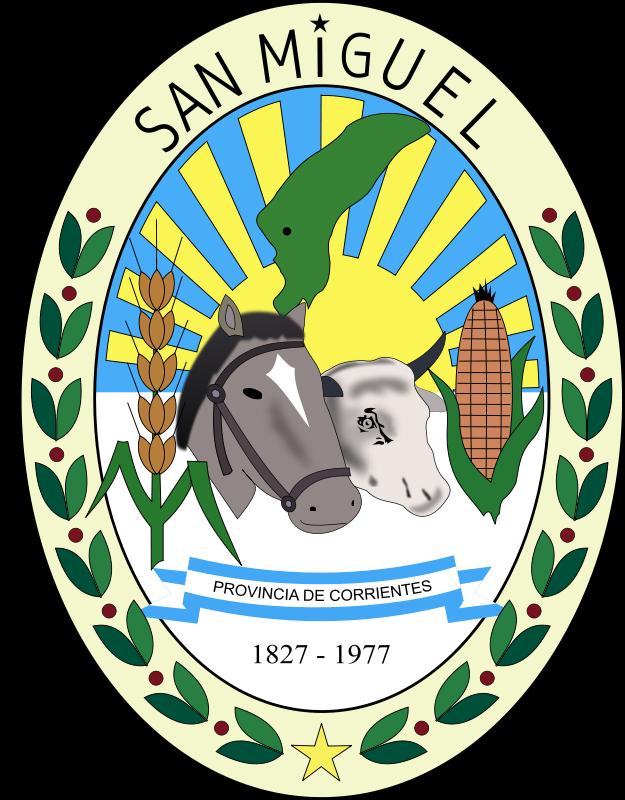 Free Escudo de la Municipalidad de San Miguel - Corrientes - Argentina