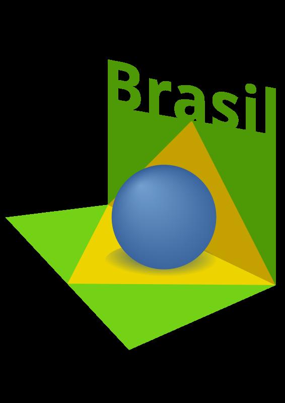 Free Brazil flag art 3D