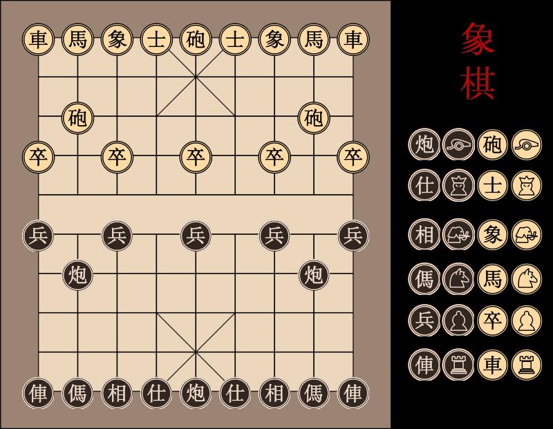 Free Xiangqi Chinese Chessboard