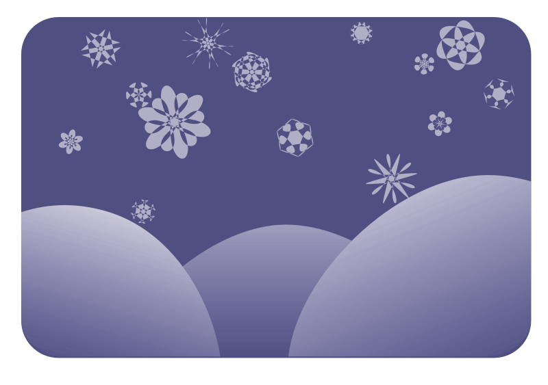 Free dark blue snowflakes