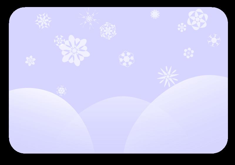 Free soft blue snowflakes