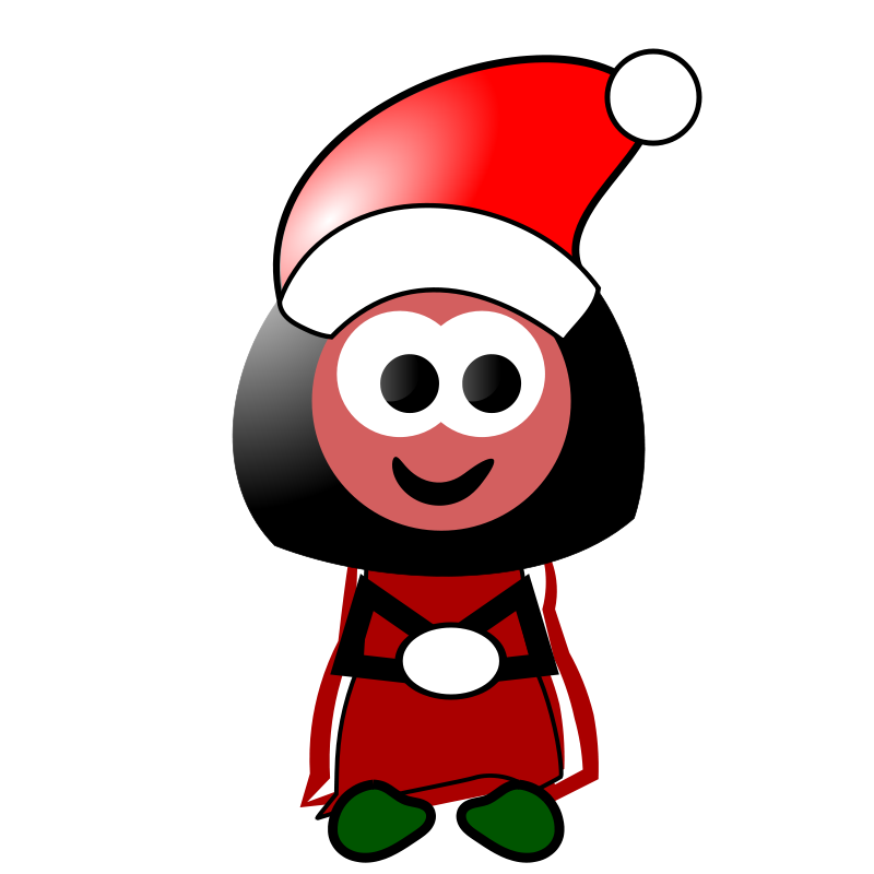 Free Clipart: Christmas Girl | jpd2010