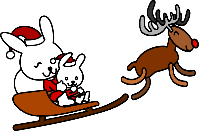 Free Santa rabbit