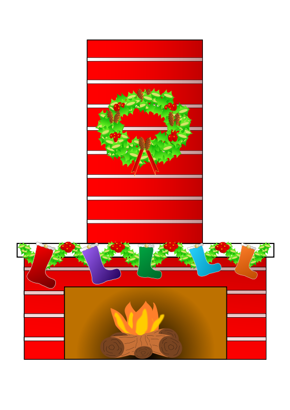 Free Clipart: Christmas fire place | Ehecatl1138