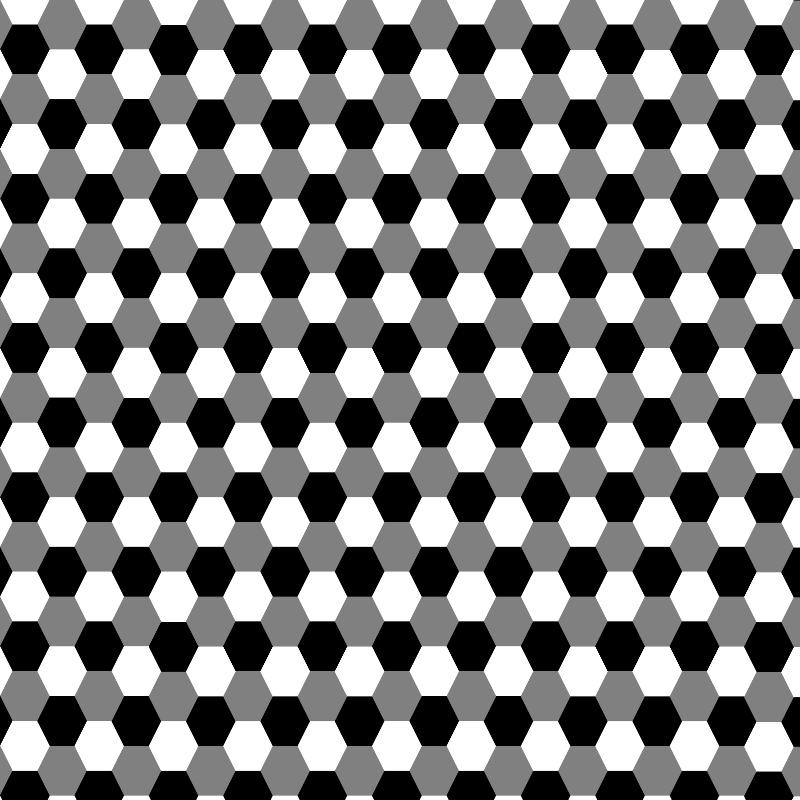 Free hexagon grayscale