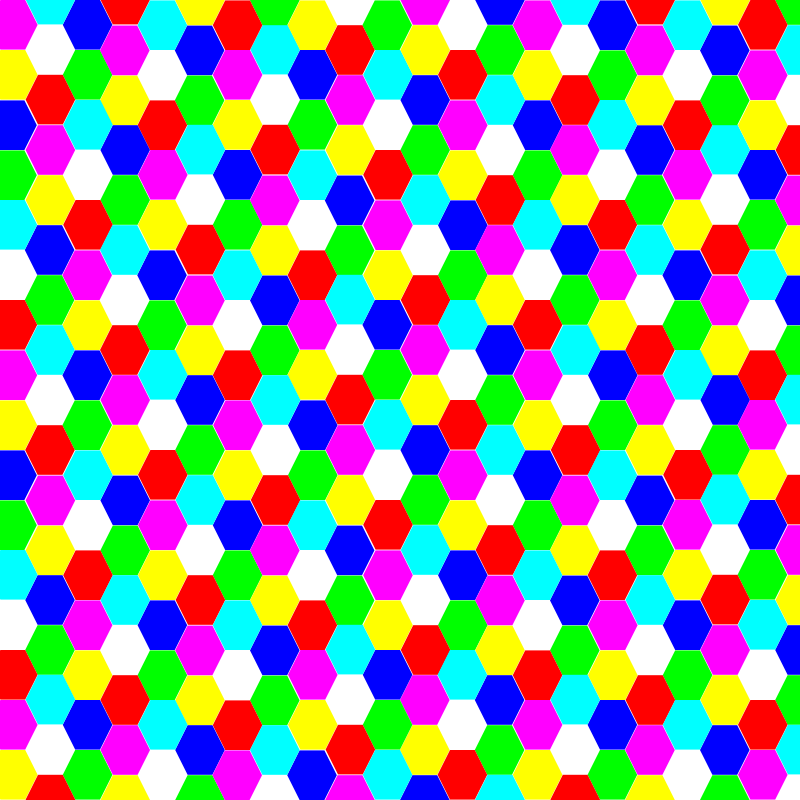 Free hexagon colorful